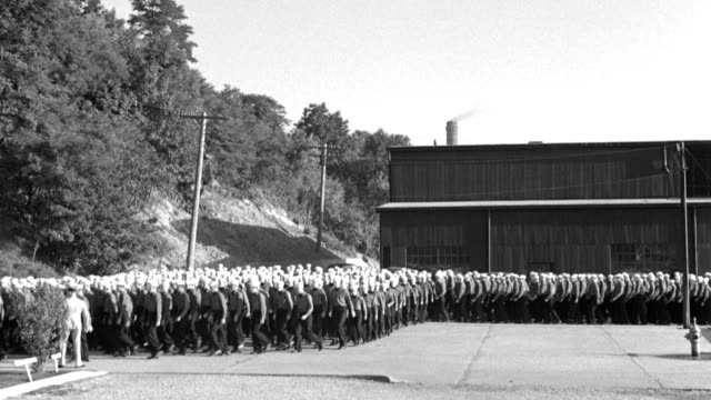 naval training center recruits march in formation. - military recruit stock videos & royalty-free footage