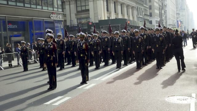 naval weapons station earle the 100th new york city veterans day parade which is an annual event produced by the united war veterans council - parade stock videos & royalty-free footage