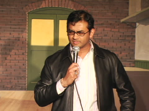 stockvideo's en b-roll-footage met naveed mahbub talks about outsourcing comedy - uitbesteding
