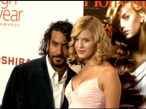 vidéos et rushes de naveen andrews and maggie grace at the hollywood life magazine's breakthrough of the year awards at the henry fonda theatre in hollywood, california... - henry fonda theatre