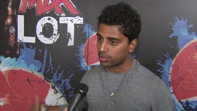 naveen selvadurai, foursquare co-founder talks about the global reach of pepsi max and partnering with them. at the pepsimax lot at 2011 sxsw music... - big boi stock videos & royalty-free footage