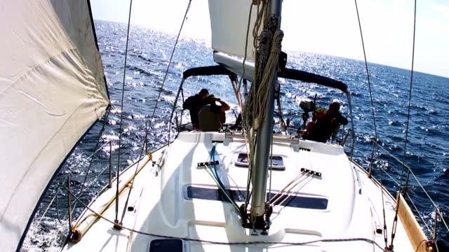hd: navigating a sailboat - mast sailing stock videos & royalty-free footage