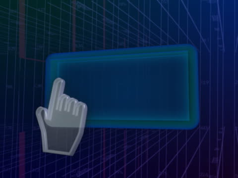vídeos de stock e filmes b-roll de navigating button with mouse - ícone de seta