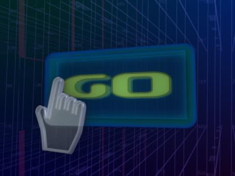 vídeos de stock e filmes b-roll de navigating go button with mouse - ícone de seta