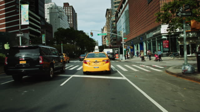 navigating manhattan traffic on broadway - pavement stock videos & royalty-free footage