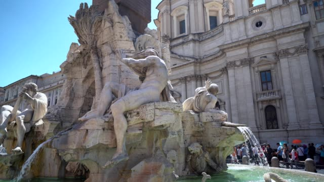 piazza navona, rome - piazza navona stock videos & royalty-free footage