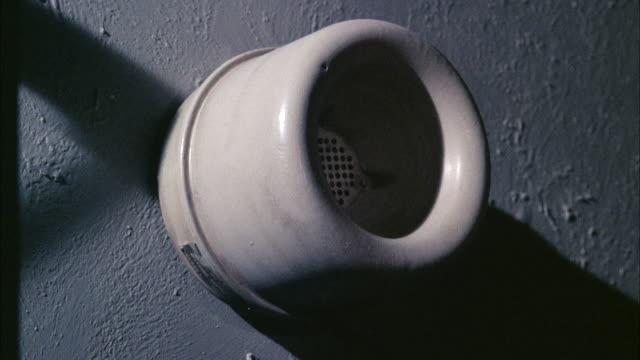 cu navy intercom speaker on wall. - intercom stock videos and b-roll footage