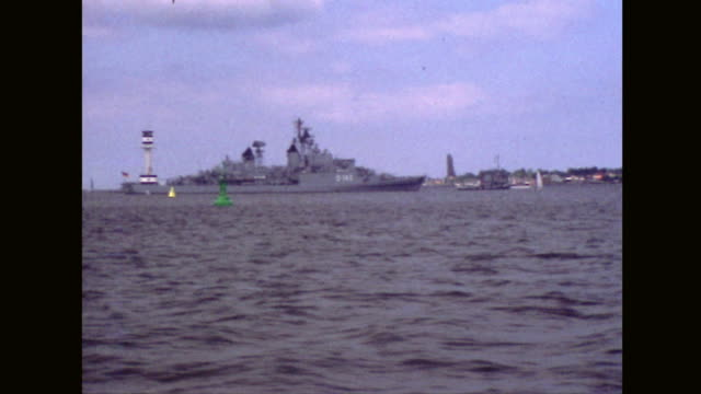 navy of the german federal armed forces frigate karlsruhe manofwar / warship 182 and f212 submarine s44 all the ships are in the harbor of kiel in... - wehrmacht stock-videos und b-roll-filmmaterial