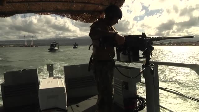 navy patrol boats conducting a search and rescue exercise during rim of the pacific 2014 off the coast of oahu. the three-boat element is part of... - us navy stock videos & royalty-free footage