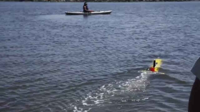 Navy personnel from the Naval Oceanography Special Warfare Command tested their Iver autonomous underwater vehicle during joint training with Marines...