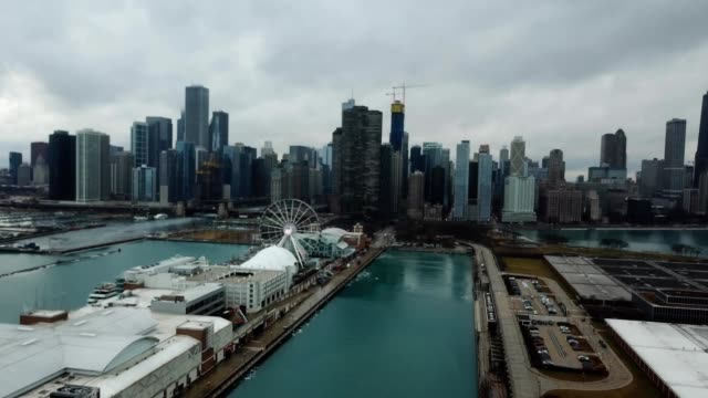 Navy Pier and Chicago Skyline Illinois