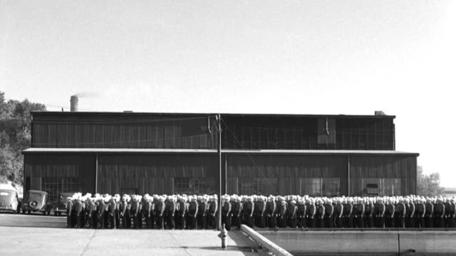 u.s. navy recruits practice close order drill in front of a naval training center building. - recruit stock videos & royalty-free footage