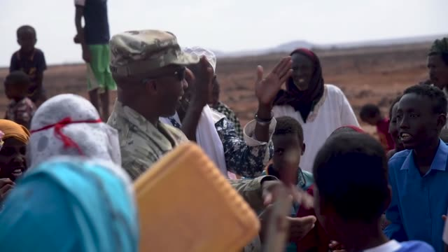 us navy seabees from naval mobile construction battalion 1 assigned to combined joint task forcehorn of africa completed and handed over the newly... - horn of africa stock videos and b-roll footage