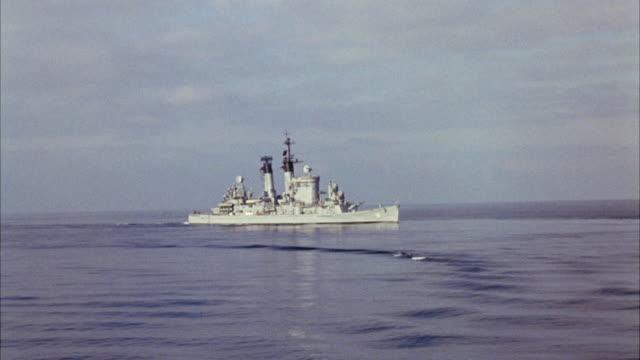 WS Navy ship in ocean