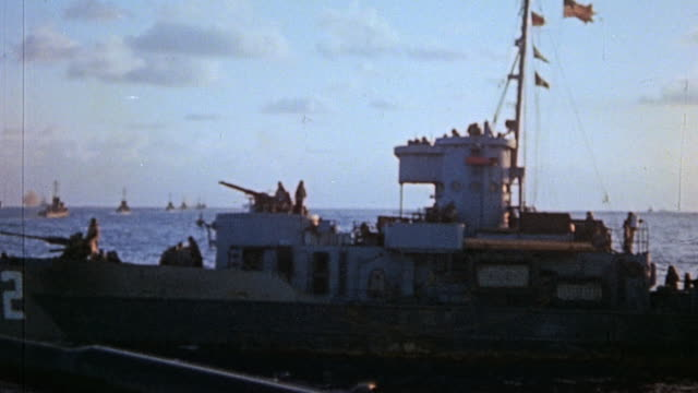 s navy warship underway / iwo jima japan - warship stock videos & royalty-free footage