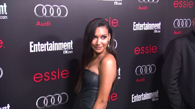 naya rivera arrives at entertainment weekly hosts celebration honoring the screen actors guild awards¨ nominees on 1/26/13 in los angeles ca - entertainment weekly stock-videos und b-roll-filmmaterial