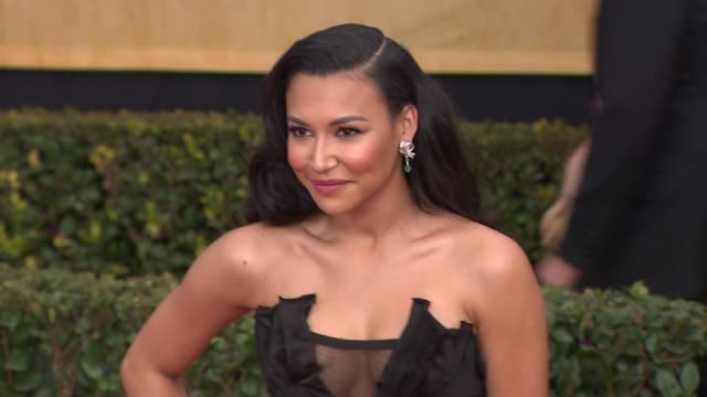 naya rivera at 19th annual screen actors guild awards arrivals on 4/12/13 in los angeles ca - naya rivera stock videos and b-roll footage