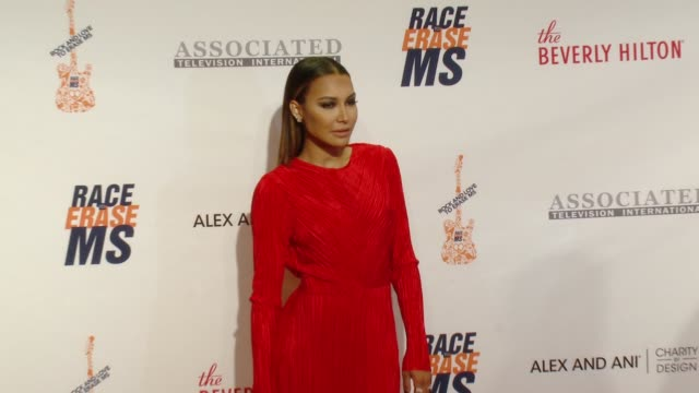 naya rivera at the 23rd annual race to erase ms in los angeles ca - naya rivera stock videos and b-roll footage