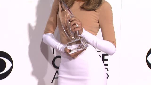 naya rivera at the 40th annual people's choice awards photo room at nokia theatre la live on in los angeles california - naya rivera stock videos and b-roll footage