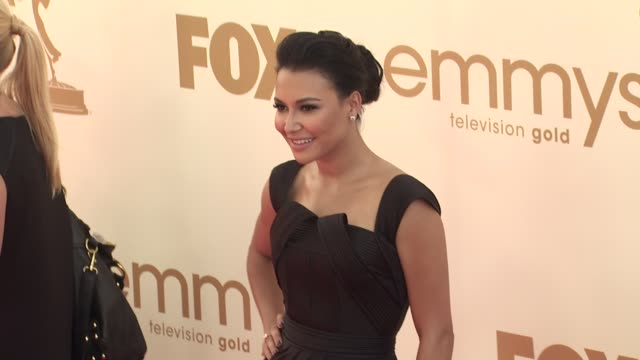 naya rivera at the 63rd primetime emmy awards arrivals part 1 at los angeles ca - 63rd annual primetime emmy awards stock videos and b-roll footage