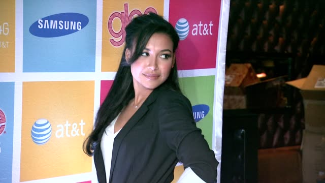 naya rivera at the glee's william mckinley high school comes to life at the first ever 'samsung att spring fling' at new york ny - naya rivera stock videos and b-roll footage