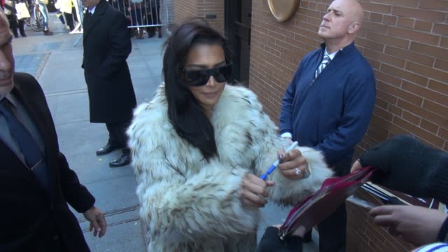 naya rivera leaving the view show signs for fans in celebrity sightings in new york - naya rivera stock videos and b-roll footage