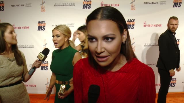 interview naya rivera on being at the event at the 23rd annual race to erase ms in los angeles ca - naya rivera stock videos and b-roll footage