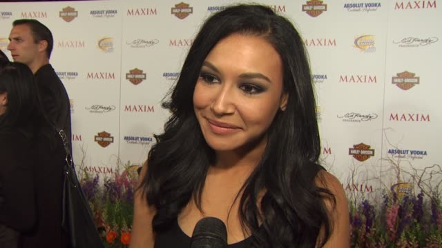 naya rivera on being on the list on the glee tour on her partner in a buddy cop movie at the 11th annual maxim hot 100 at los angeles ca - naya rivera stock videos and b-roll footage