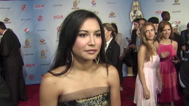 naya rivera on how it feels to be nominated for two alma awards this being her first nominee separate from the cast of glee and as a music artist and... - naya rivera stock videos and b-roll footage
