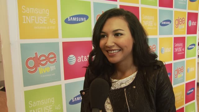 naya rivera on the event the glee live tour the fans her friends and family seeing the show being active on twitter and being a role model at the... - naya rivera stock videos and b-roll footage