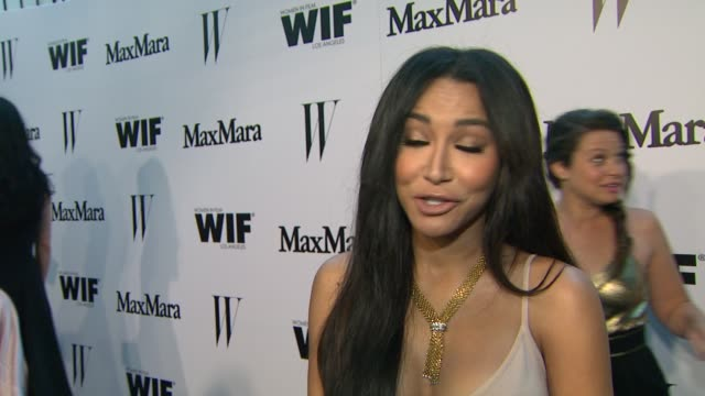 interview naya rivera on what brings her out max mara her directorial debut at the max mara and w magazine cocktail party to honor the women in film... - naya rivera stock videos and b-roll footage