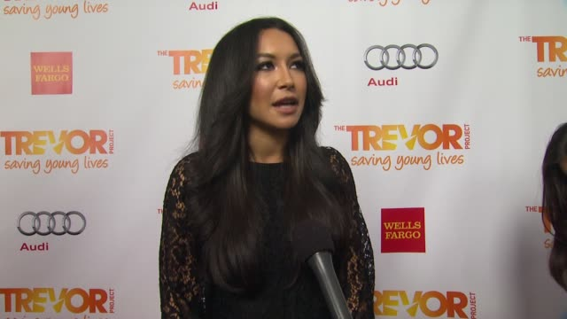 naya rivera on why she supports the trevor project why this cause is close to her heart what she will be performing tonight and why katy perry is... - naya rivera stock videos and b-roll footage