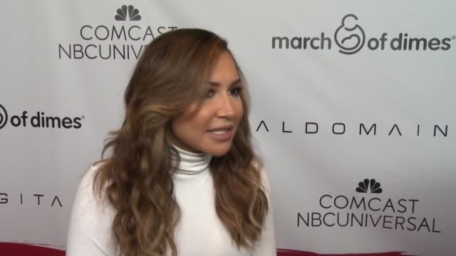 interview naya rivera on why she wanted to support march of dimes her favorite memory of pregnancy and how becoming a mother has changed her life at... - naya rivera stock videos and b-roll footage