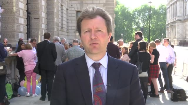 nazanin zaghairratcliffe's family marks daughter's 4th birthday england london whitehall ext richard ratcliffe live 2way interview sot - richard ratcliffe video stock e b–roll