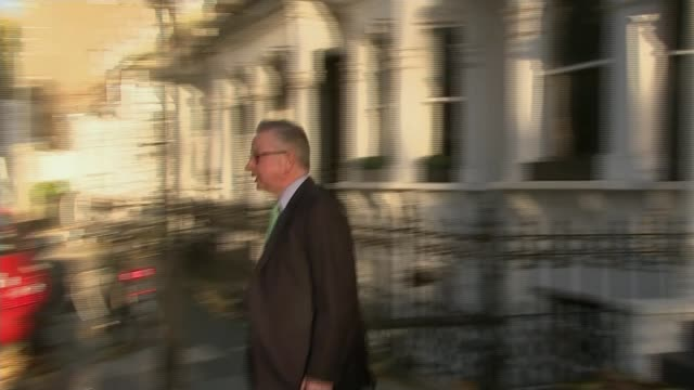 boris johnson apologises and raises possibility of diplomatic protection london ext michael gove mp from house and into car - nazanin zaghari ratcliffe video stock e b–roll