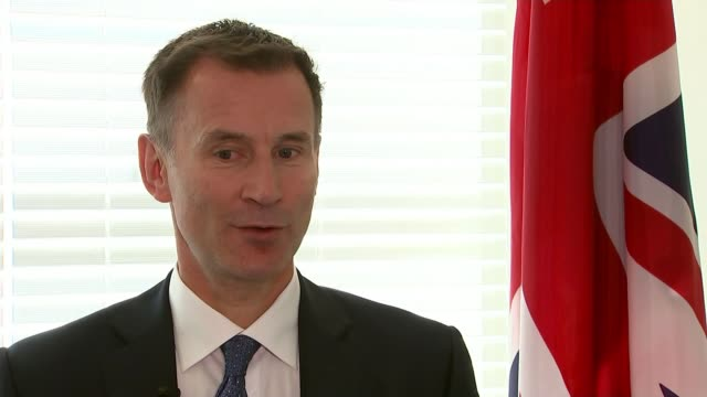 Richard Ratcliffe meets families of other prisoners held in Iran USA New York United Nations Headquarters INT Jeremy Hunt MP interview SOT [on...