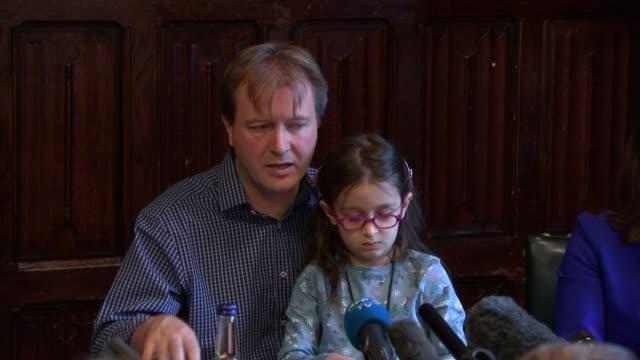 richard ratcliffe press conference england london westminster int richard ratcliffe answering questions sot as his daughter gabriella... - nazanin zaghari ratcliffe video stock e b–roll