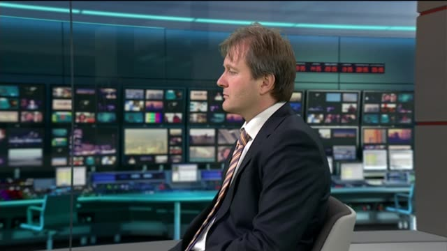 supporters call on UN to intervene over alleged torture ENGLAND London INT Richard Ratcliffe having microphone fitted in ITV News television studio...