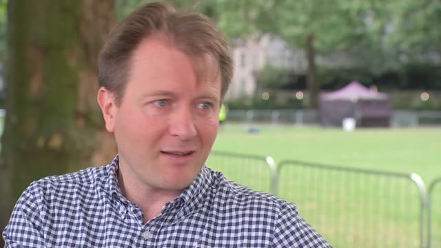 nazanin zaghariratcliffe temporarily released from prison england london richard ratcliffe interview sot - richard ratcliffe video stock e b–roll