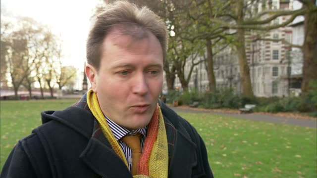 nazanin zaghariratcliffe's husband says boris johnson's visit to iran will give his wife hope england london ext richard ratcliffe interview sot - richard ratcliffe video stock e b–roll