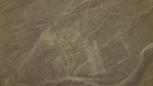nazca lines site with monkey geoglyph - pre columbian stock videos & royalty-free footage