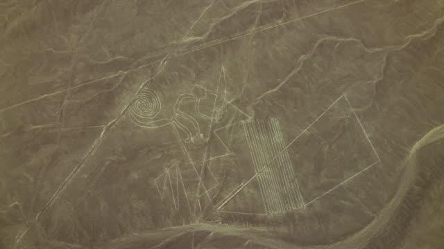 Nazca Lines Site With Monkey Geoglyph
