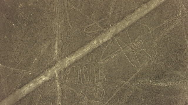 nazca lines site with whale geoglyph - pre columbian stock videos & royalty-free footage