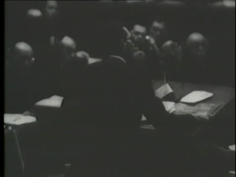 nazi defendants testify about the holocaust at the nuremberg trials. - nuremberg trials stock videos & royalty-free footage