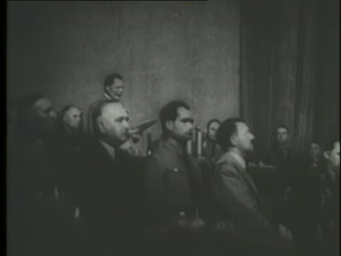 nazi  leader hermann goering reads from a document that states marriages between jews and citizens of german blood are prohibited. - hermann goering stock videos & royalty-free footage