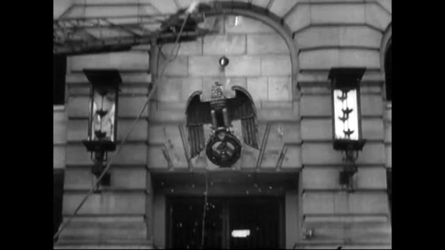 Nazi party eagle symbol removed from Reich Chancellery building