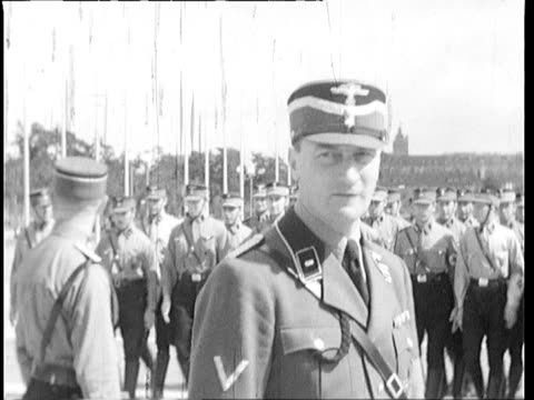 Nazi Soldiers and Party activist practicing more marching