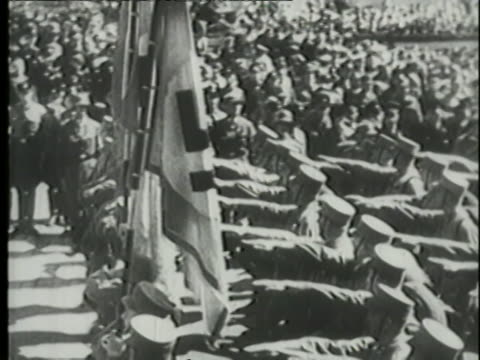 nazi soldiers parade in nuremberg. - marching stock videos & royalty-free footage