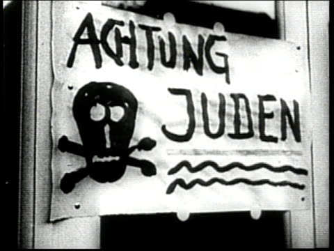 nazis leave threatening, anti-semitic messages at jewish businesses and encourage german citizens to boycott them. - ominous stock videos & royalty-free footage
