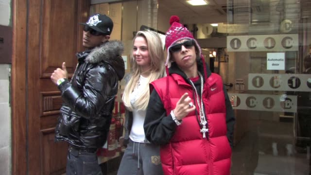 NDubz at the Celebrity Video Sightings In London at London England